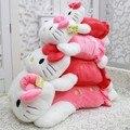 Привет котенок с длинным плюшевые игрушки подушка 3 цвет домой подушку японский куклы сон подушка 35 см 1# кошка подушка кукла папа подарки