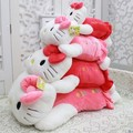 Olá KITTY almofada longo brinquedo de pelúcia boneca travesseiro cochilo travesseiro japonês 3 casa cor 35 CM 1 presentes boneca Papa gato travesseiro