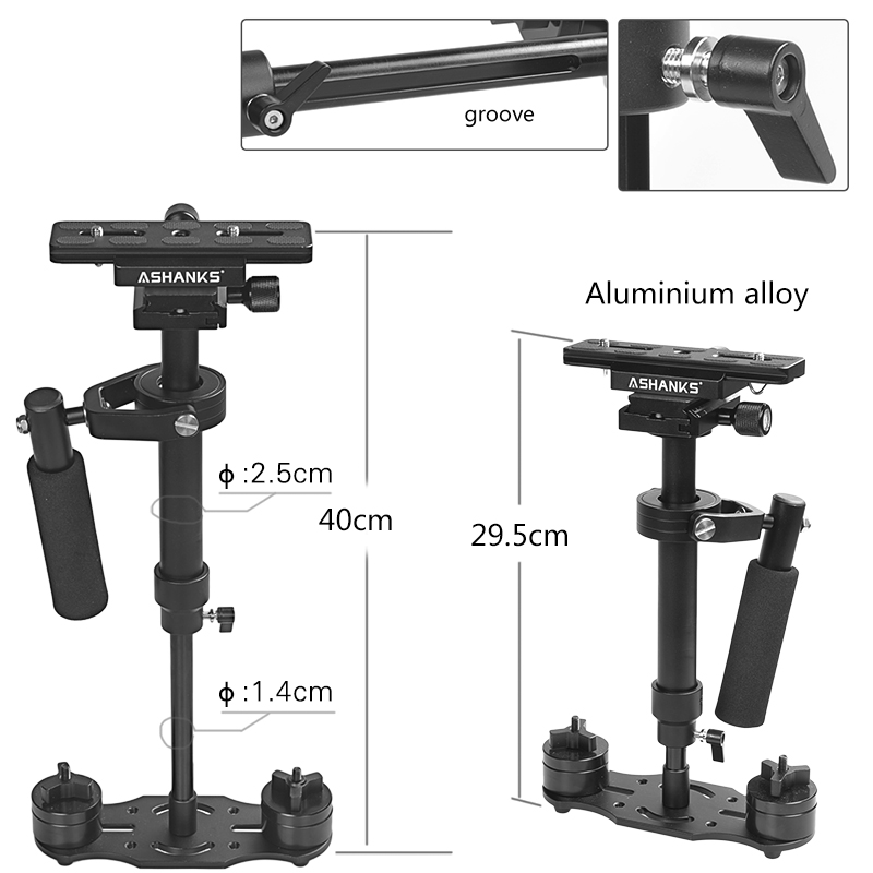 ASHANKS S40 40CM Handheld Steadycam Stabilizer For Steadicam Canon Nikon GoPro AEE DSLR Video Camera LY08