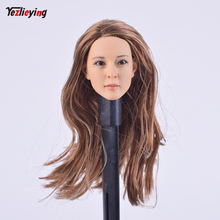 цены 1/6 Scale Accessories Custom Head Sculpt Carving Female KUMIK 13-56 Hair Fit 12