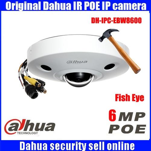 original Dahua DHI-IPC-EBW8600 6MP Full HD IP FISHEYE Camera Waterproof metal case fisheye IR IP Dome Camera IPC-EBW8600 монитор состава тела omron bf214 hbf 214 ebw