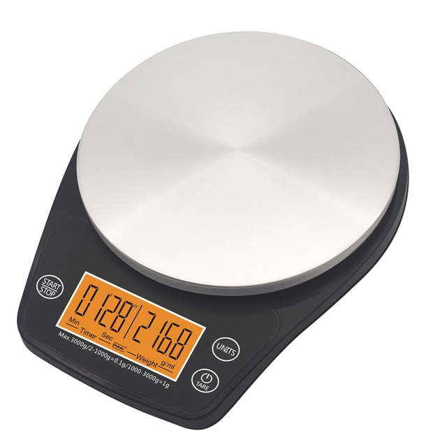 Digital Kitchen Scale with Timer (0.1-3000G)
