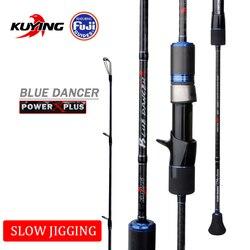 KUYING BLUEDANCER 2.04 m Casting Lento Jigging Canna Da Pesca Richiamo Canna Canne In Carbonio FUJI Ruota Elicoidale Anello 1 Sezione 150 -400g Esche