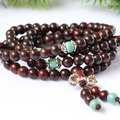 New Fashion Authentic Rosewood  Beads Tibetan Buddhist 108 Prayer Beads Necklace Gourd mala Prayer Bracelet for Meditation
