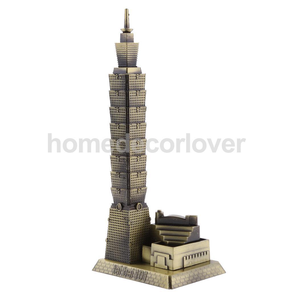 Taipei 101 Tower Building Architecture Figurine Statue Model of Taiwan Desktop Ornament Travel Souvenir Gift(China)