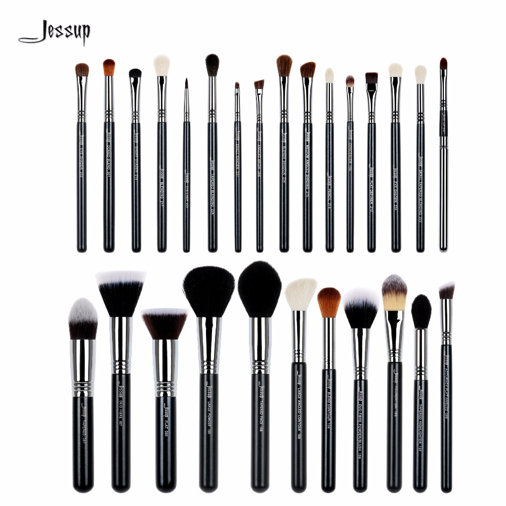 Jessup brushes 27Pcs Pro Makeup Brush Set Foundation Eye Face Shadow Lipsticks Powder Blending Beauty Brushes Kit T133 vander 5pcs pro lollipop shaped makeup brushes set powder foundation eye shadow beauty face lip blusher cosmetic brush blending