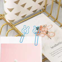 20pcs/box gestures Paper Clips Kawaii Stationery Clear Bindlips Photos Tickets Notes Letter Paper Clip Stationeryer H0271