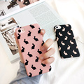 "Korean Cute Rabbit Cartoon Printed Fundas Case for iPhone 6 6S 4.7"" 6plus 6splus Slim Plastic Hard Back Cover for iPhone 7 7plus"