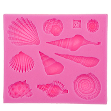 Newest Sea Shell And Conch Shape Silicone 3D Mold Cookware Dining Bar Non-Stick Cake Decorating Fondant Soap FT-542