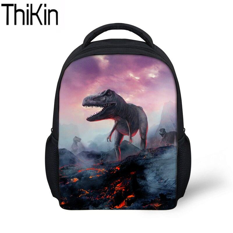THIKIN Kids&Baby Mini School Bags Dinosaur Printing Kindergarten Backpack Children Shoulder Bag Bagpack for Boys Cool Bookbag