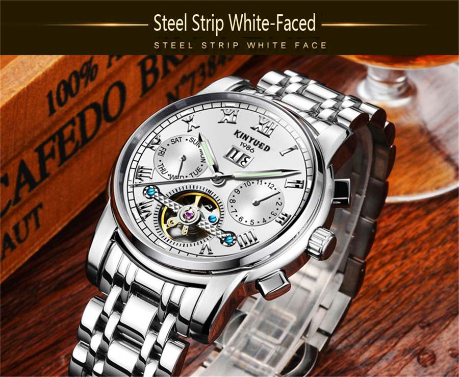 000a4950c Compre KINYUED Top Marca De Luxo Clássico Relógios Dos Homens ...