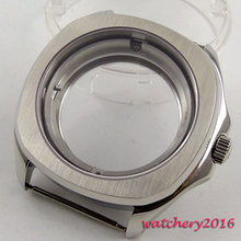 40mm parnis stainless steel Sapphire Crystal Watch Case fit 8205 8215 821A 2836 Movement