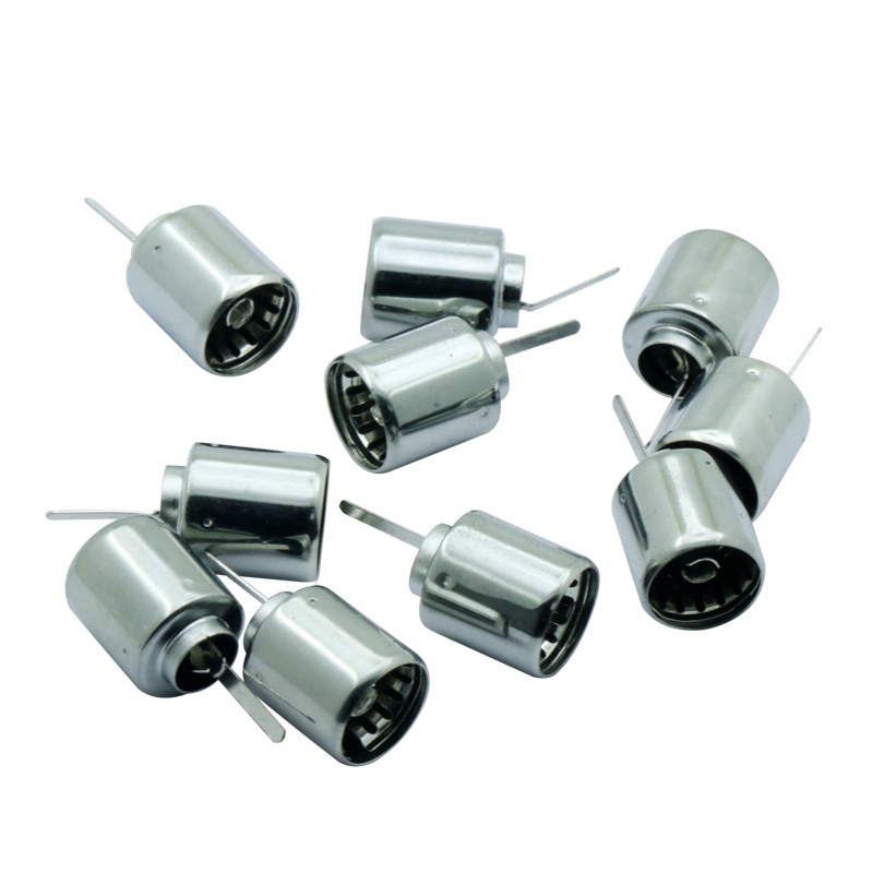 100Pcs Coaxial Coax RF Adapter Connector Wire connector Metal TV Female DVB T TV PAL Cable