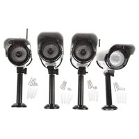 4 X Solar Dummy Wireless Dummy Security Camera Powered IR LED Lamp Outdoor CCTV IP
