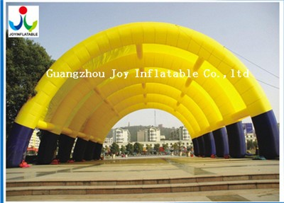 2018 Factory Price Gaint Oxford Inflatable Lawn Yellow Tents For Event For Sales