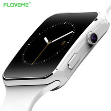 Floveme e6 para samsung huawei sony smartwatch android teléfono inteligente inteligente de smart watch dial reloj pasómetro synchornized