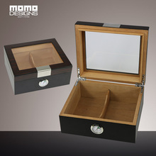 Classic Wooden Cigar Humidor box with Glass Top Custom Table Handmade Wooden Cigar storage case display cohiba cigar case