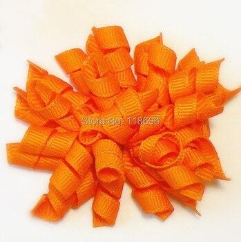 "100pcs 2.5"" Orange Curly Corkscrew Hair Clip Girls Hair Accessory Free Shipping"