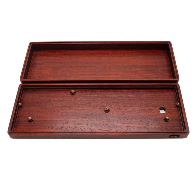 Handcraft GH60 Solid Wooden Case PCB Plate For 60% Mini Mechanical Gaming Keyboard Compatible Poker2 Pok3r Wooden Shell