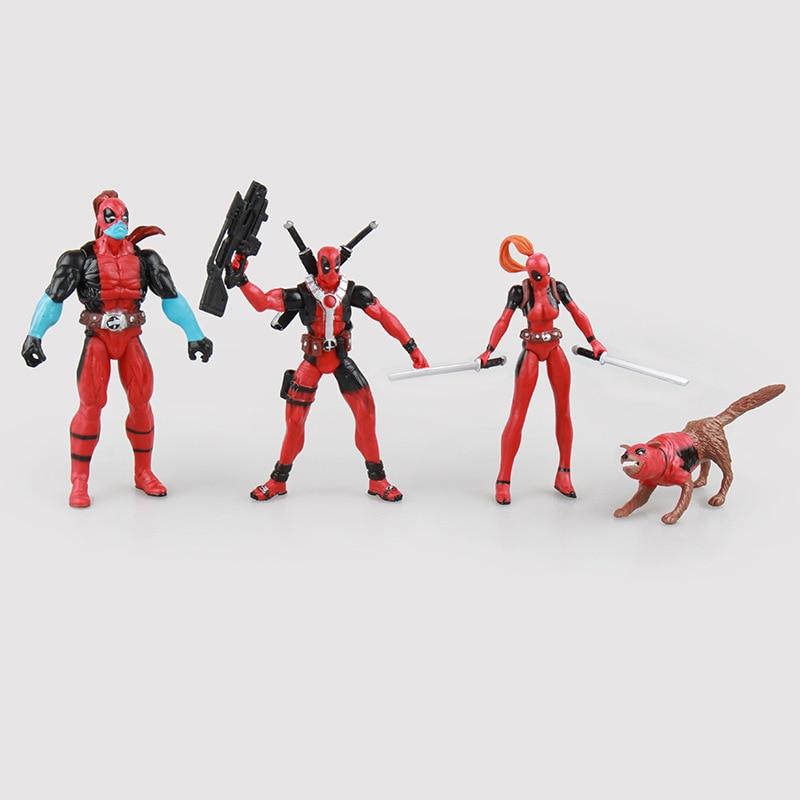 Φ_ΦEnvío libre 4 unids lindo 4 Marvel x-men el cuerpo de deadpool ...