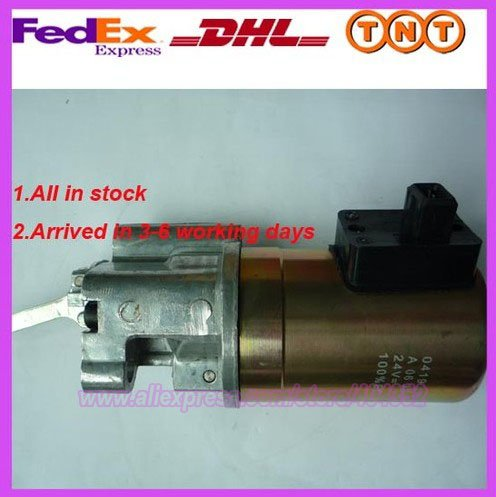 replace 2012 Fuel Shutdown Device shut off solenoid 02113793/04199905 24V 3924450 2001es 12 fuel shutdown solenoid valve for cummins hitachi