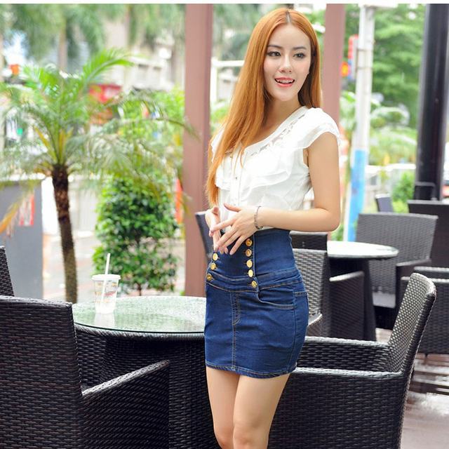 Aliexpress.com : Buy 2016 New Hot Mini Denim Skirts Women Fashion ...