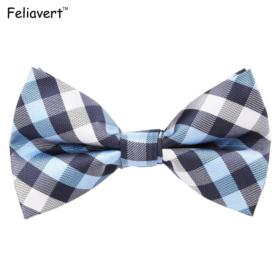 Brand New Mens Bow Tie Plaid Striped Floral Bowtie Polyester Jacquard Weave Bow Neck Tie Butterfly Male Accessory Pink Grey Ties