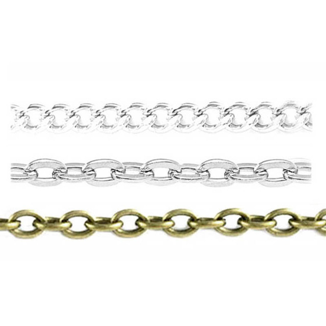 10m/lot Women Male Necklace Bulk Chain DIY Jewelry Accessories Parts Making Findings Link Rope Cross DIY Jewelry Chain