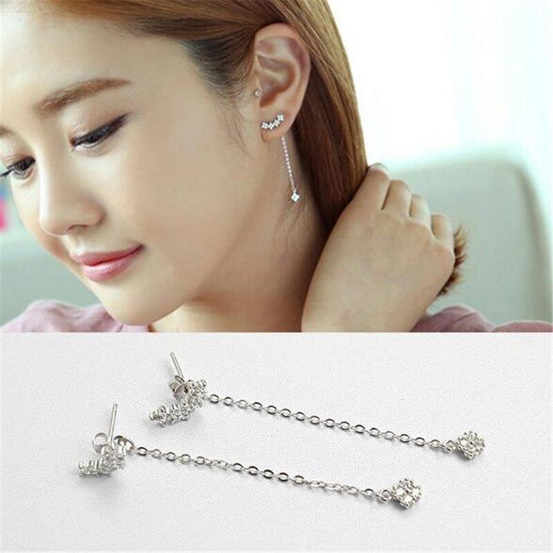 925 Sterling Silver Jewelry Floret Drop Earrings for Women boucle d'oreille