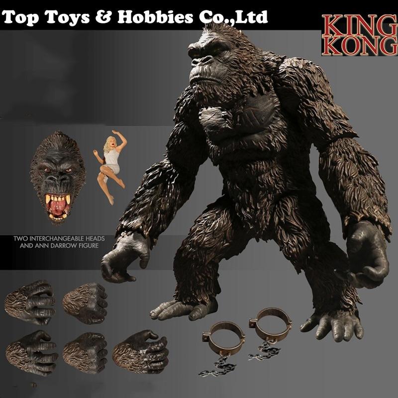 18 cm de haut dessin animé animé figure Kong crâne île KINGKONG Figure Collection Figure modèle affichage jouet Collection cadeau