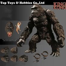18cm High cartoon Anime figure Kong Skull Island KINGKONG Figure Collection Model Display Toy Gift