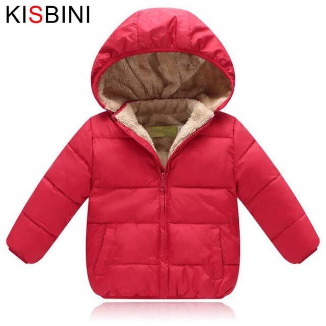 8093a146e1c1 Online Shop KISBINI Winter Jacket Thick Velvet For Girls Boys Baby ...