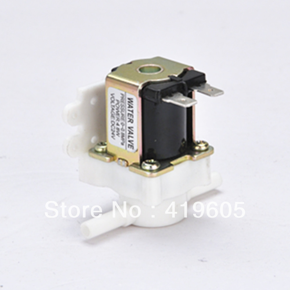 Free shipping new Plastic electromagnetic valve,12VDC solenoid valve,for drink water, air, Quick connect free shipping mj h50 plastic float valve toilet flush valve