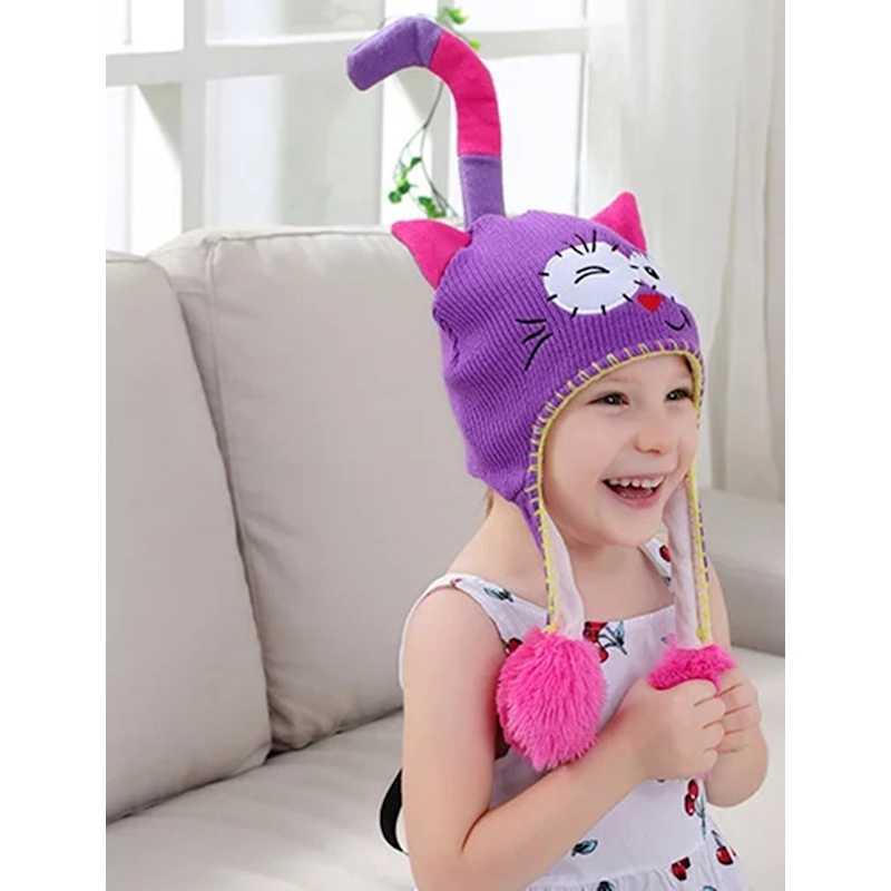 Myudi -Children s Hat Baby Amimal Squeeze Cap Monster Flap Flip Earflap  Flipeez Bonnet Boys Girls 7a1f9343fc54