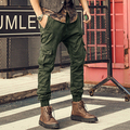 brand mens pants casual cargo pants multi-pocket Vintage military pants army green overalls male 100% cotton tactical pants 2016