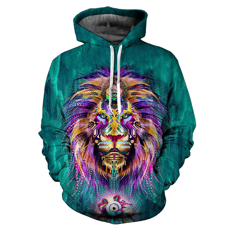 Headbook Fashion Women/Men Hooded Hoodies 3d Print Green Digigtal Lion King Unisex 3d Sweatshirts Tracksuits Pullovers 17071003