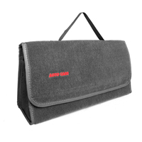 Auto Care Large Car Smart Tool Bag Grey Trunk Storage Organizer Bag Built In Strong Velcrofix