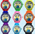 New Cartoon Watches Despicable Me Kids Boys Girls Minions Watch Casual Silicone Quartz Wristwatches Clock Reloje Montre Hours