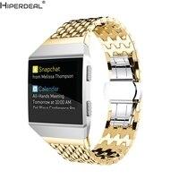 HIPERDEAL Acessório de Moda de Luxo Em Aço Inoxidável Strap Watch Band Para Fitbit Iônica