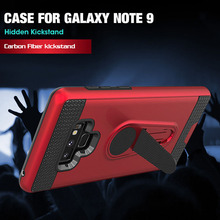 Armor Case with Kickstand for Samsung Galaxy NOTE 9 TPU+PC Dual Layer Protective Back Cover Cases Build in Absorption Magnetic
