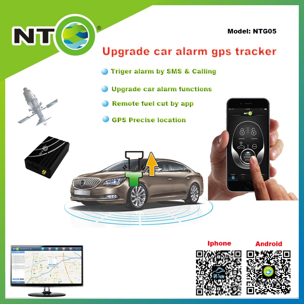 NTG05 gps tracker work with original remote lock and unlock vibration alarm by app push sms