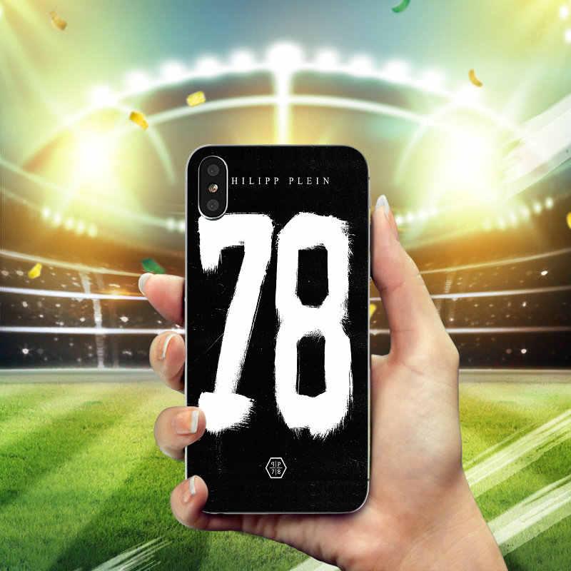5c7bdb8594a ... Newest Fashion Philipp Plein Matte Soft TPU Silicone Phone Cover Case  for iPhone X 8 7