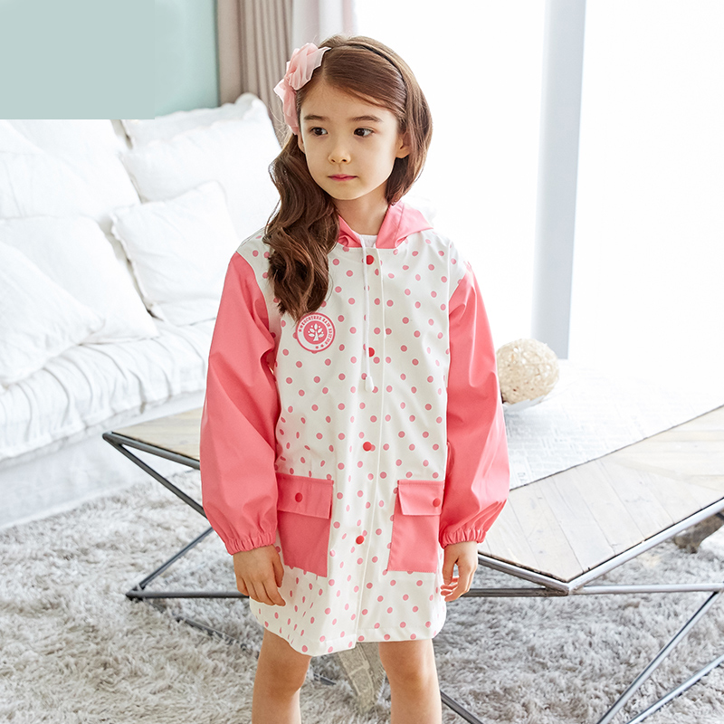 Waterproof Raincoat Poncho Girl Kids Rain Coat Boy Pluie Cape Raindonnee Cloaks For Women Raincoat For Children QQG200