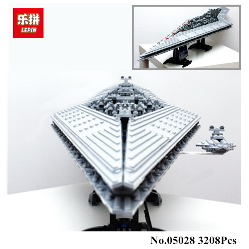 IN STOCK 3208PCS LEPIN 05028  Building Blocks Imperial Star Destroyer Model action  Bricks Toys Compatible 10221 lepin 22001 pirate ship imperial warships model building block briks toys gift 1717pcs compatible legoed 10210