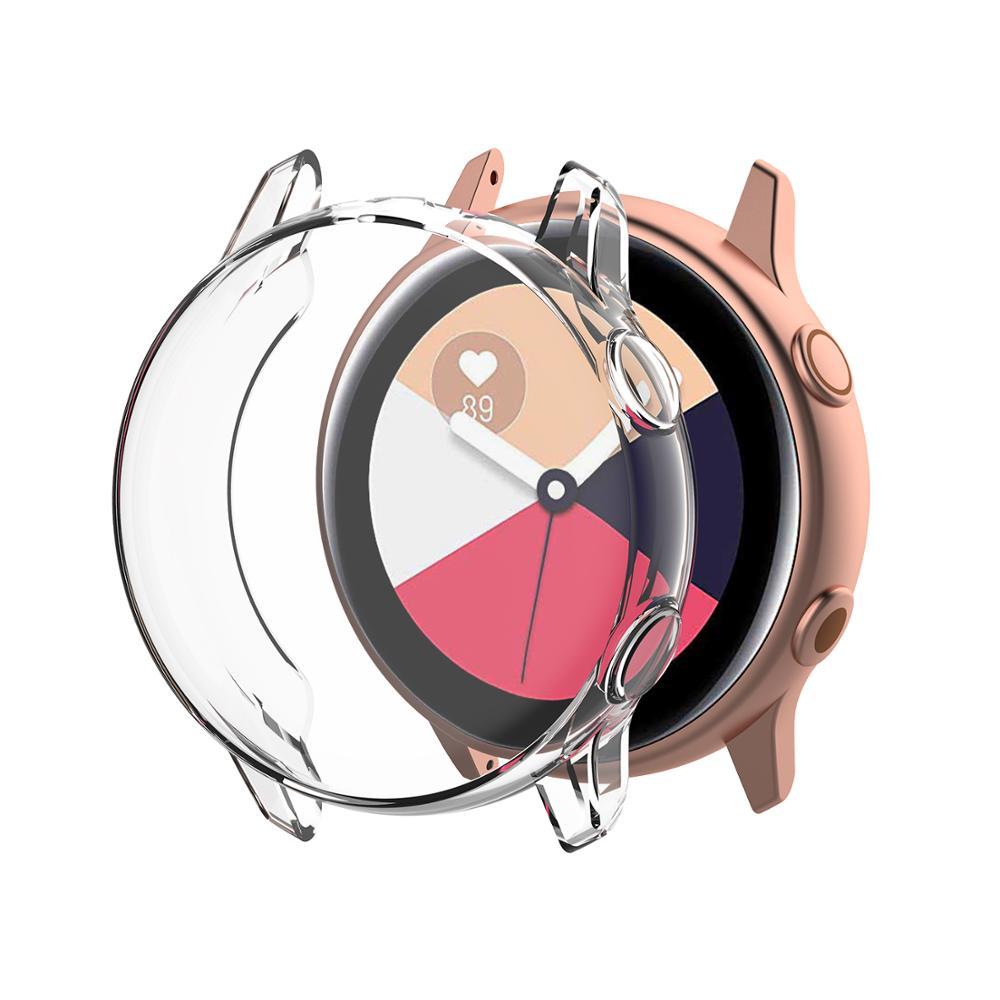Image 2 - Мягкий чехол из ТПУ для защиты экрана, полное покрытие для samsung Galaxy Watch Active Case для Galaxy Active 40 мм SM R500 аксессуары для бампера-in Умные аксессуары from Бытовая электроника