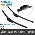 """Escovas para Nissan Tiida (a partir de 2004) 24 """"+ 13"""" fit padrão J gancho limpador braços só HY-002"""