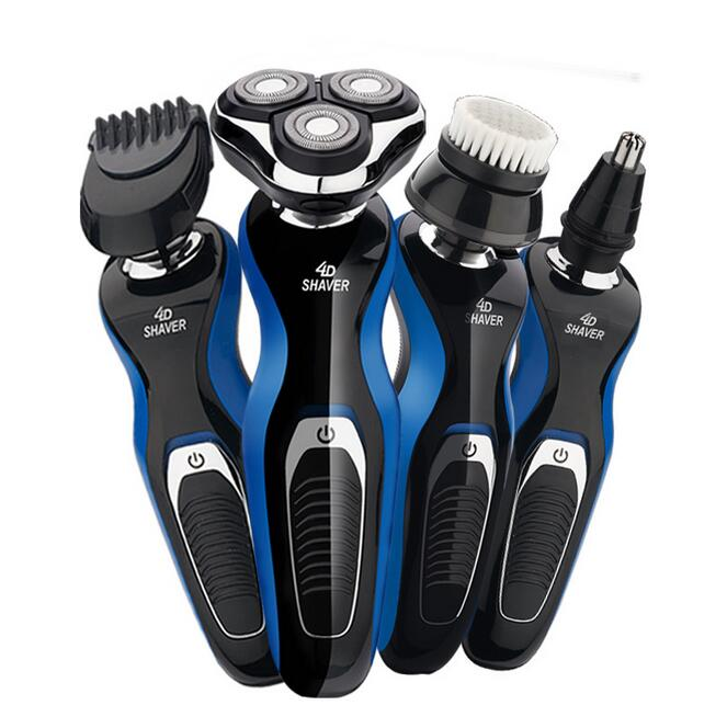 4D Electric Shaver Body Wash Hair Removal Rotary 3-Head Float Trimmer Lithium Battery Smart 360 Degree Close to Face