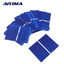 AIYIMA 40pcs 52x38MM 0.3W Polycrystalline Silicon Solar Panel DIY Solar Cells Panel