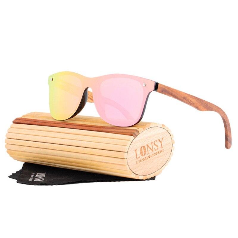 LONSY Retro Handmade Wood Sunglasses Mens