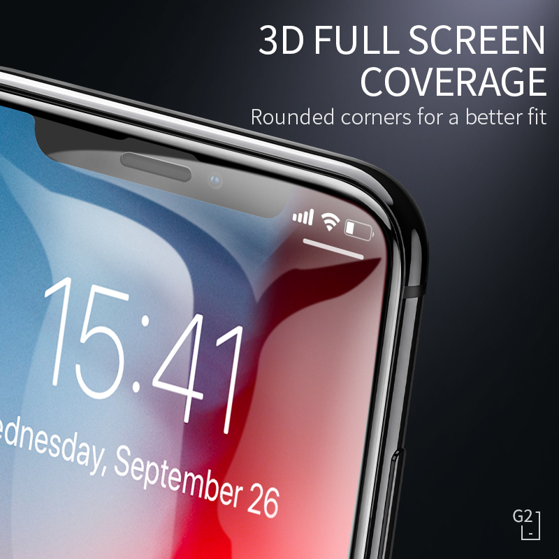 Image 3 - HOCO 3D Protective Glass for iPhone 7 8 plus X XR Xs on iPhone 11 Pro Max Screen Protector Full Cover Glass for iPhone xs max-in Phone Screen Protectors from Cellphones & Telecommunications on